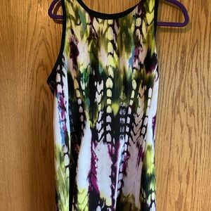 Sleeveless Colorful A-Line Dress
